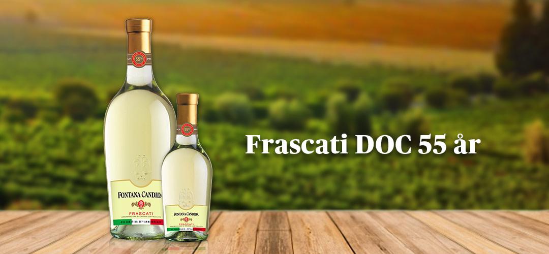 Frascati 55 år – Fontana Candida Frascati firar med ny födelsedagskostym